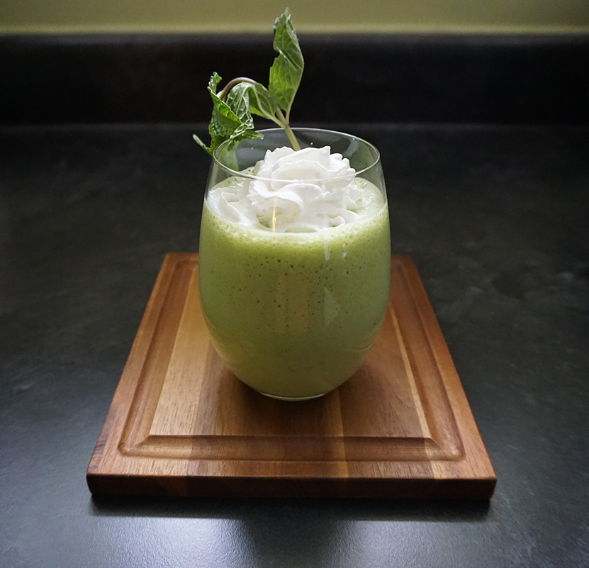 "Healthy and minty faux ""shamrock"" shake"