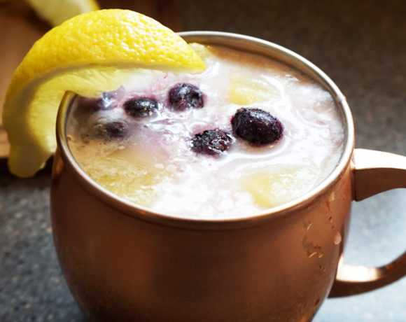 Lemon blueberry colada
