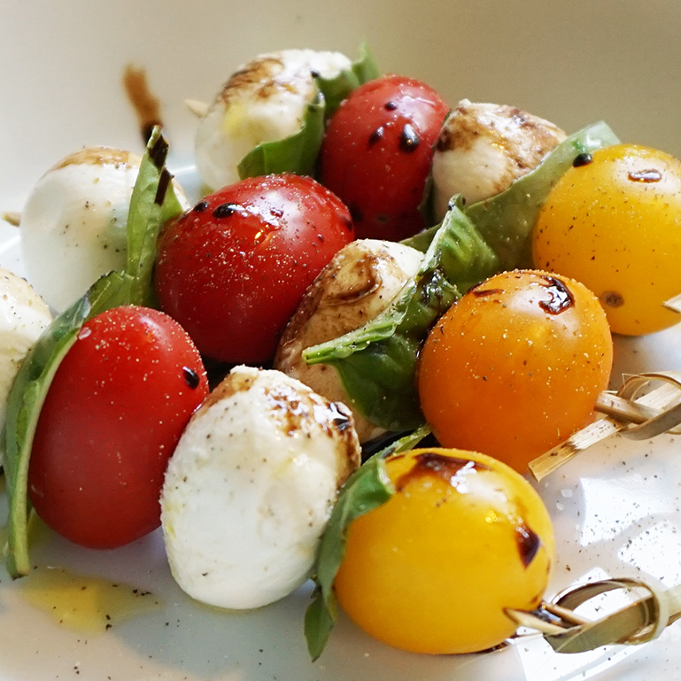 """Caprese kabobs: the easiest """"fancy"""" appetizer ever"""