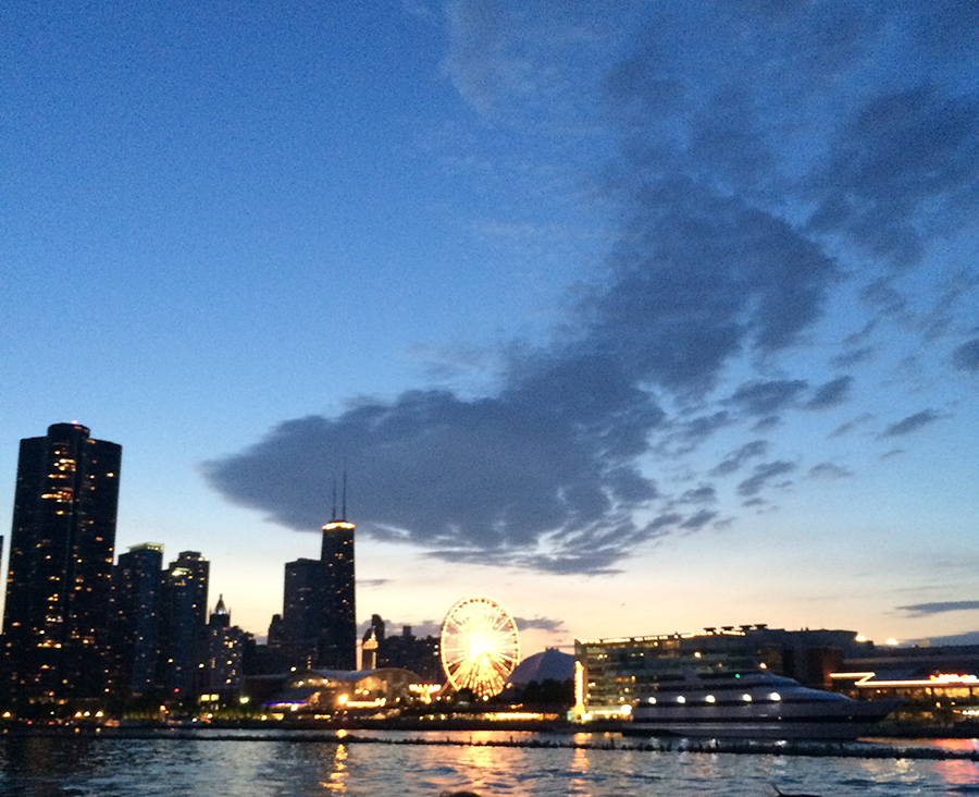 Navy Pier in the evening