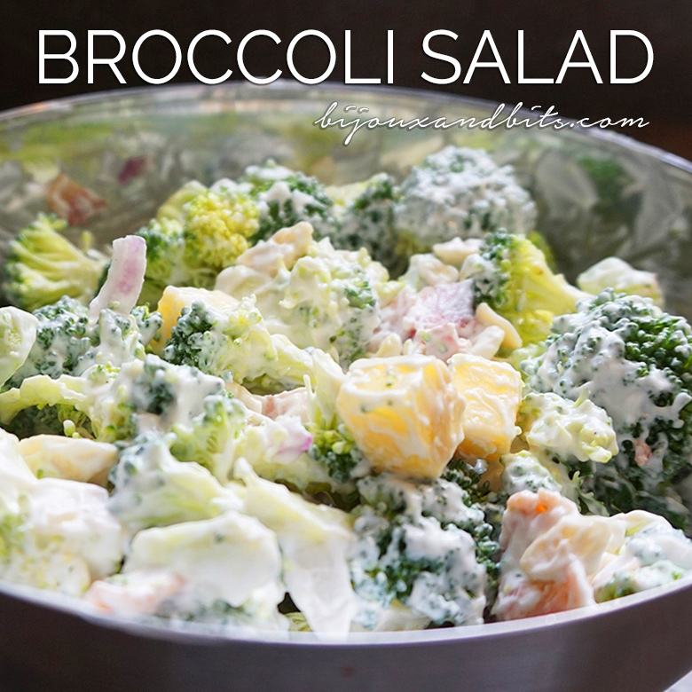 Low carb broccoli salad recipe from @bijouxandbits