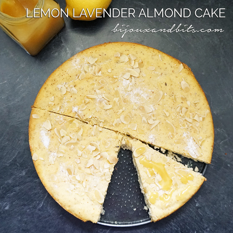 Lemond lavender almond cake recipe from @bijouxandbits