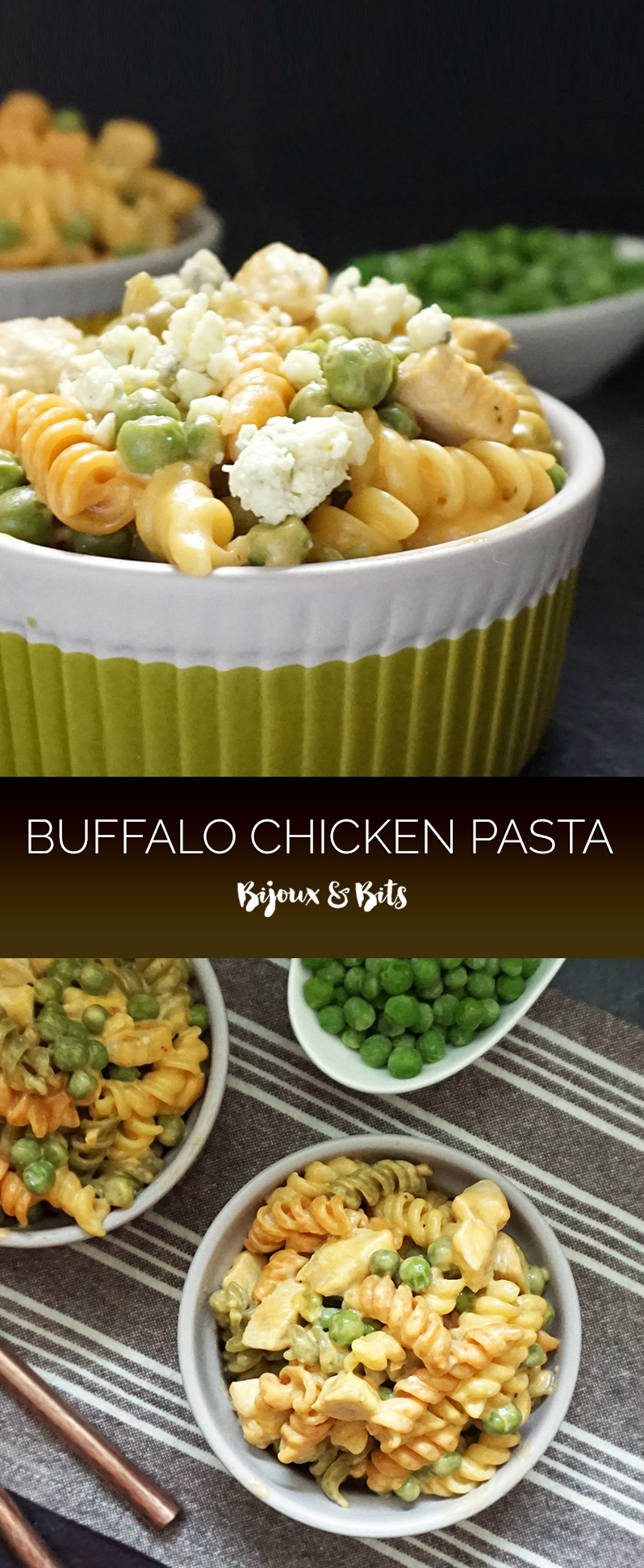 One pot Buffalo chicken pasta from @bijouxandbits #chicken #pasta #recipes