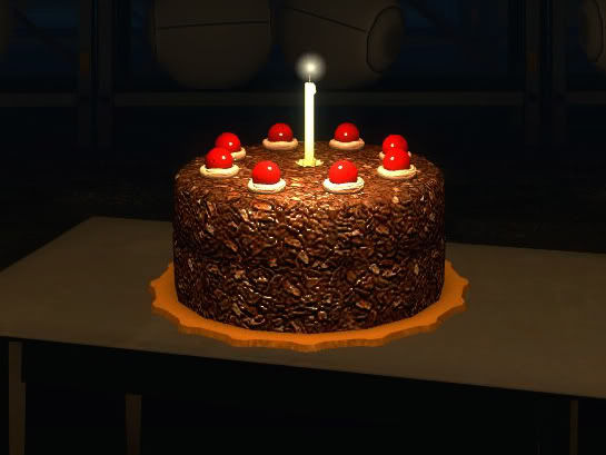 Portal Happy Birthday Cake