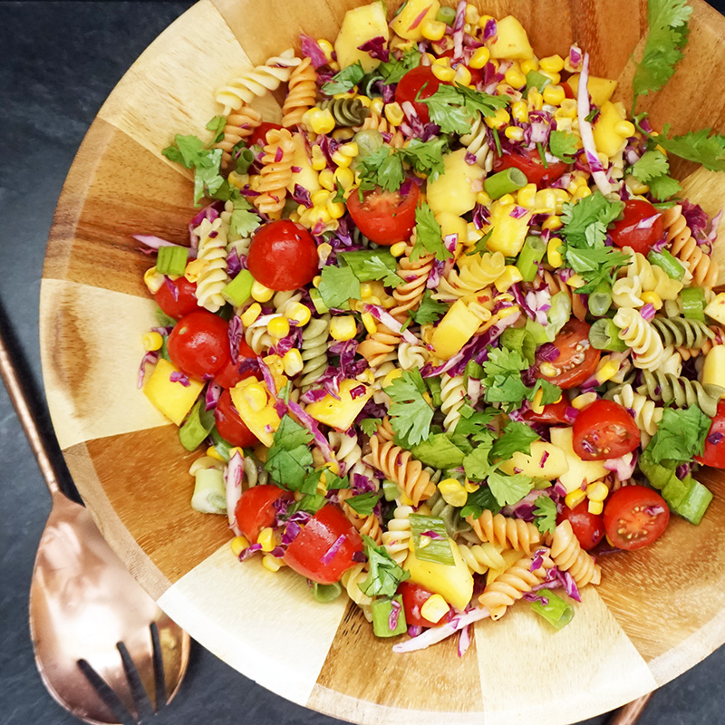 Mango Salsa Pasta Salad From Atbijouxandbits
