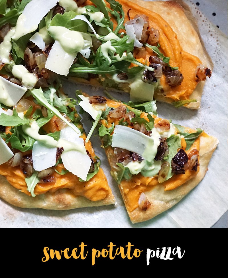 Sweet potato pizza from @bijouxandbits
