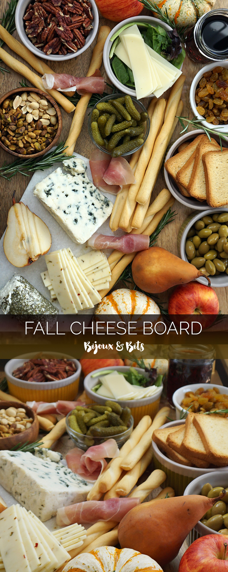 Rustic fall cheese board from @bijouxandbits