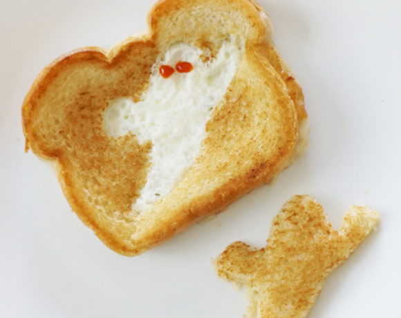 Cheese ghostie toastie