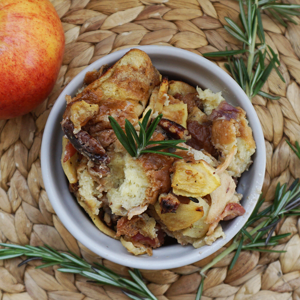 Holiday recipes: Apple bacon brioche stuffing