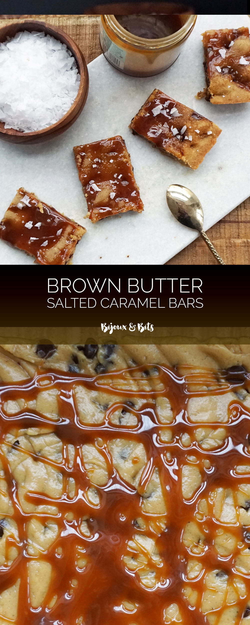 Brown butter salted caramel bars from @bijouxandbits