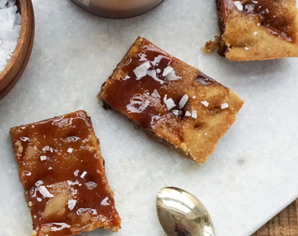 Brown butter salted caramel bars