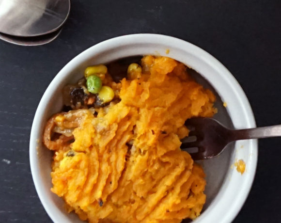 Southwest sweet potato shepherd's pie