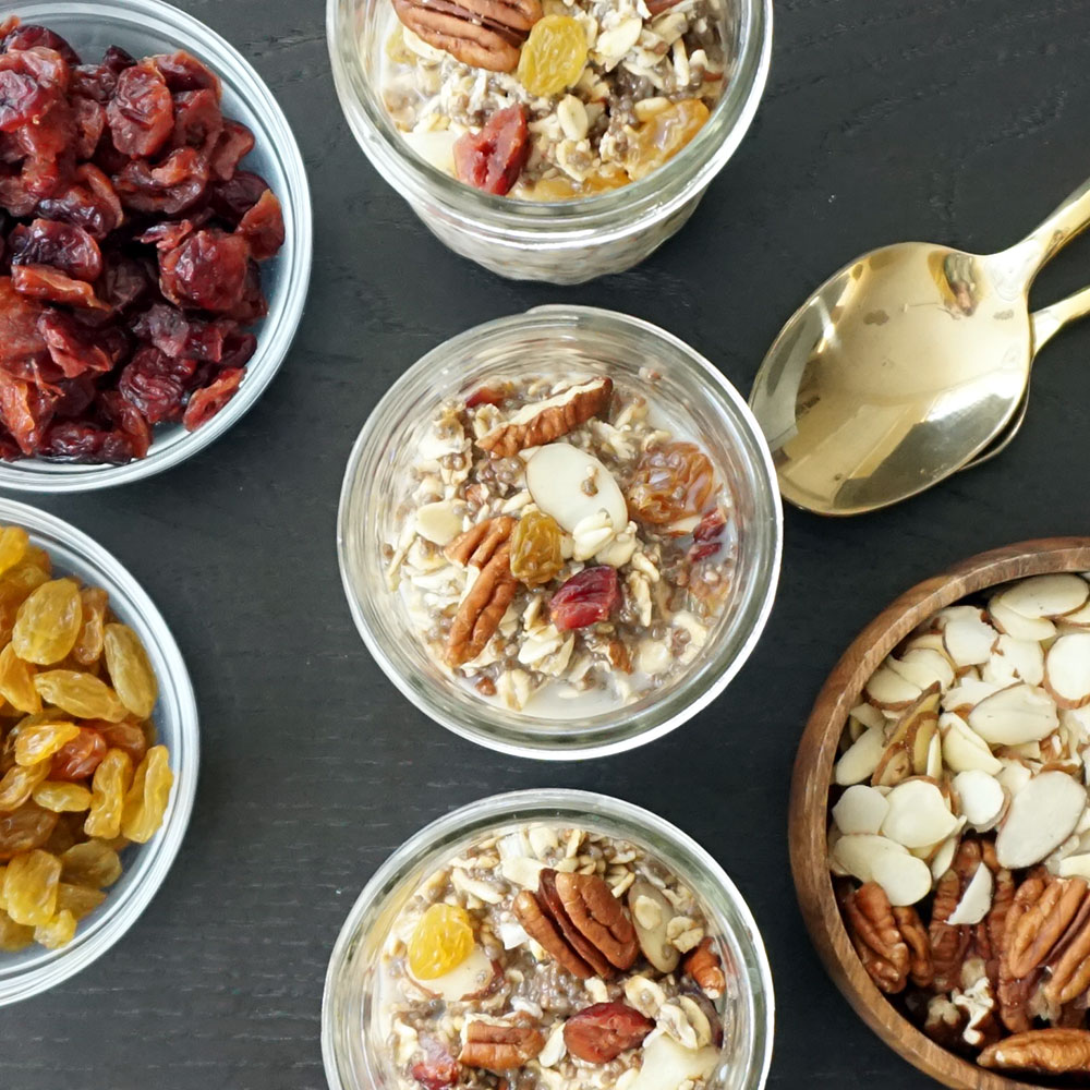 Rooty tooty nutty fruity overnight oats