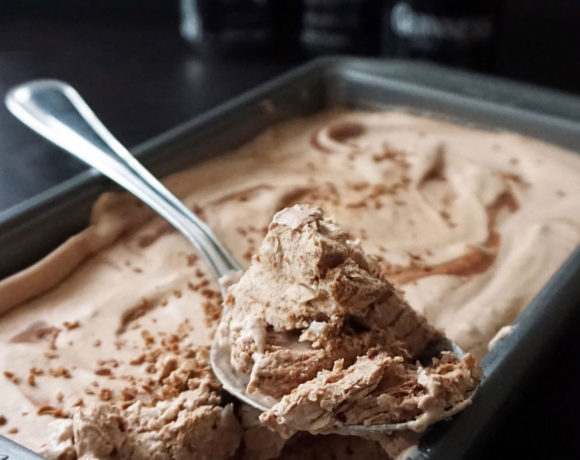 Guinness malted chocolate no-churn ice cream