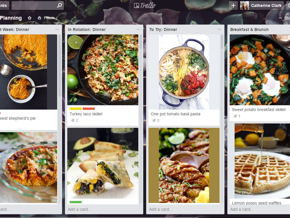 How to meal plan with Trello