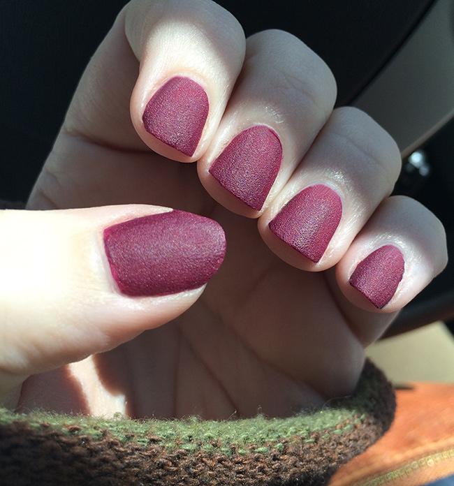 Sally Hansen Velvet texture nail polish