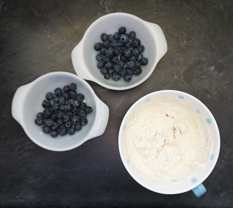 Blueberry almond ricotta bake recipe