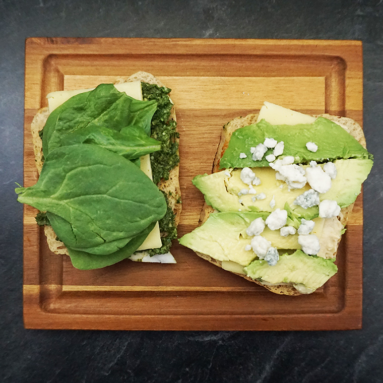 Mean green pesto avocado sandwich from @bijouxandbits