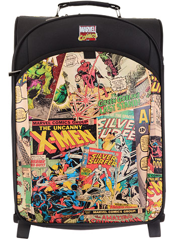 Vintage Marvel comic book luggage