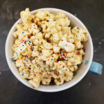 Cookie butter popcorn recipe from @bijouxandbits
