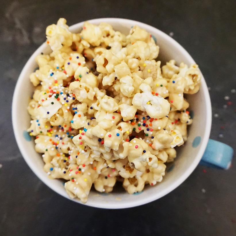 Cookie butter peanut popcorn