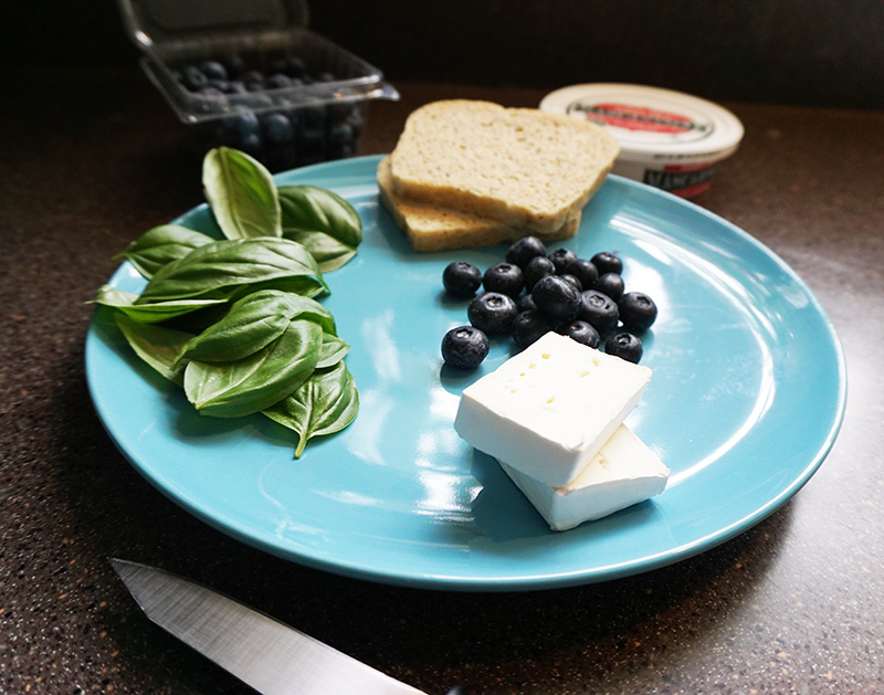 Blueberry mascarpone sandwich recipe from @bijouxandbits