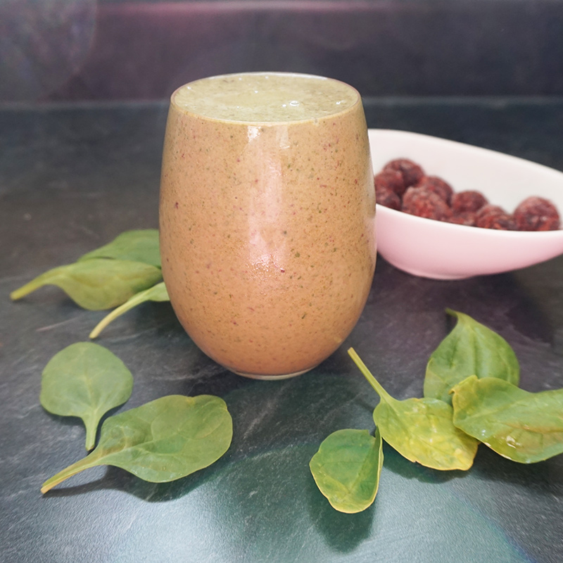 Chocolate covered cherry green smoothie