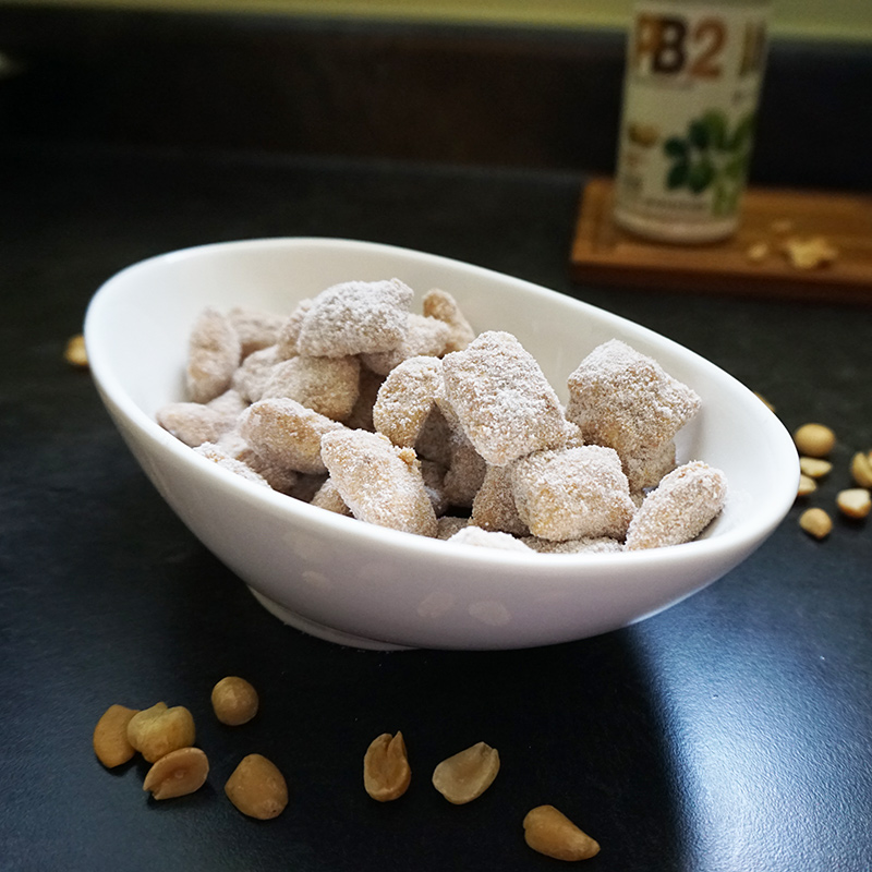 Healthier peanut butter puppy chow from @bijouxandbits