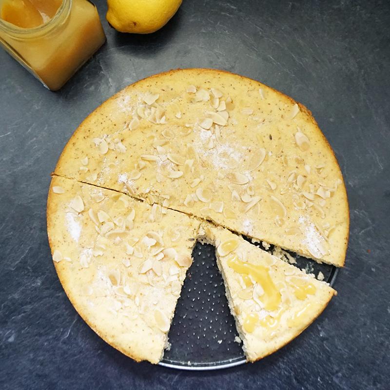 Lemond lavender almond cake recipe from @bijouxandbits