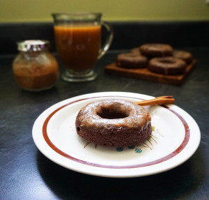 Mexican hot chocolate brownie donuts recipe from @bijouxandbits