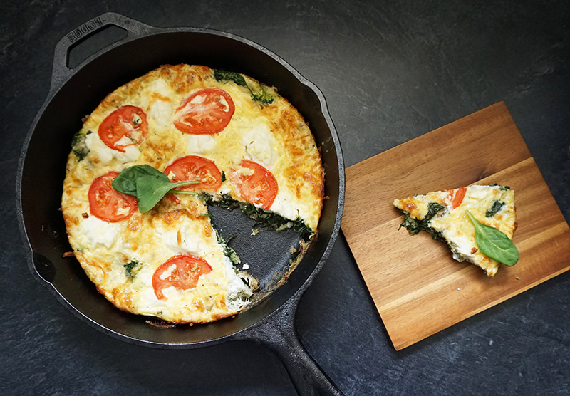 Ricotta frittata recipe from @bijouxandbits