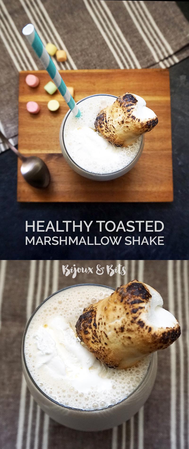 Healthy toasted marshmallow shake recipe from @bijouxandbits