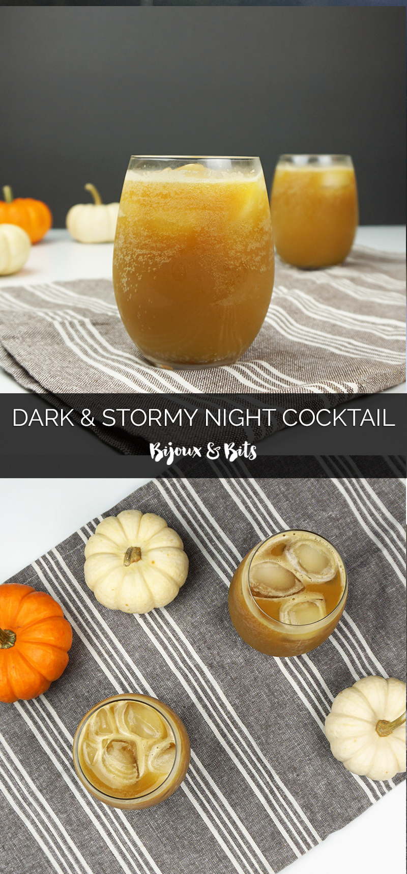 Dark & Stormy Night cocktail from @bijouxandbits