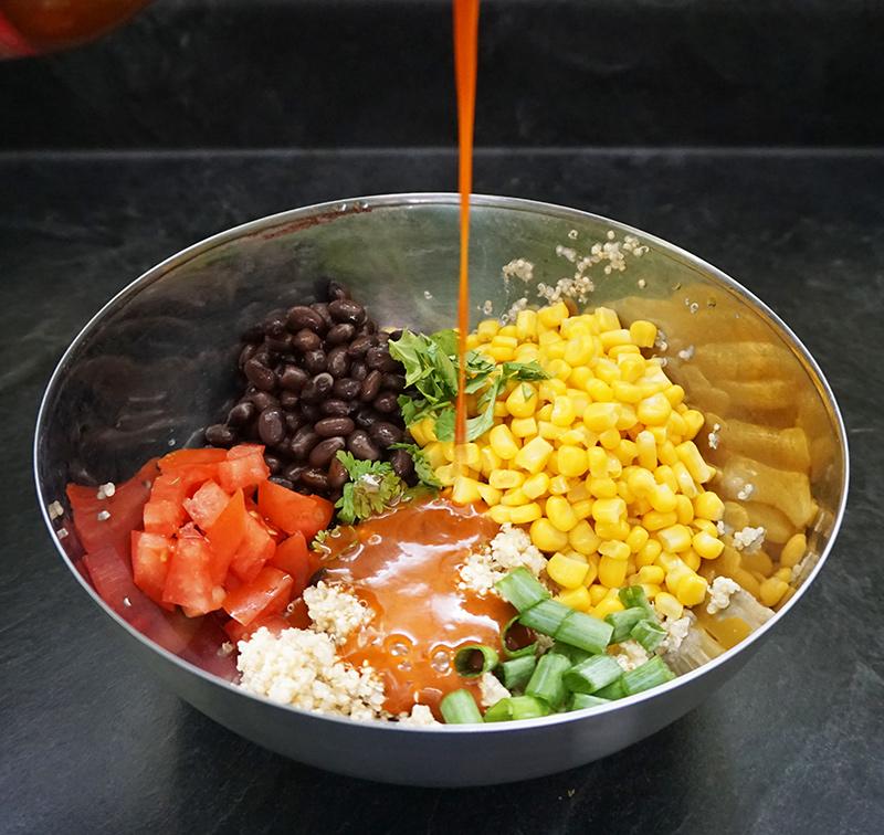 Quinoa enchilada skillet recipe from @bijouxandbits