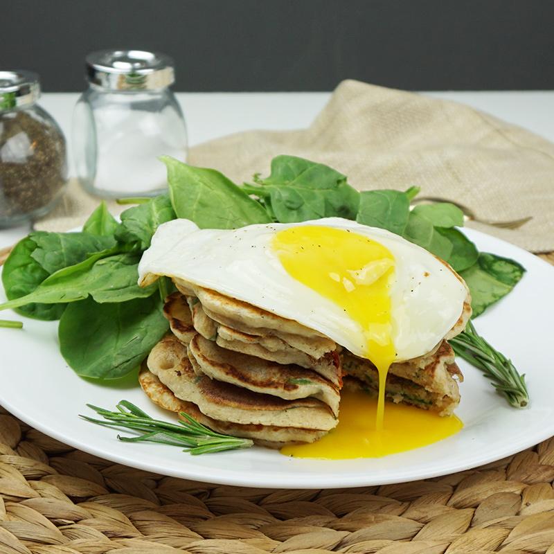 Savory sun-dried tomato pancakes recipe from @bijouxandbits