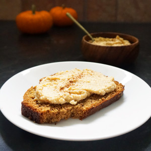 Pumpkin butter ricotta spread recipe from @bijouxandbits