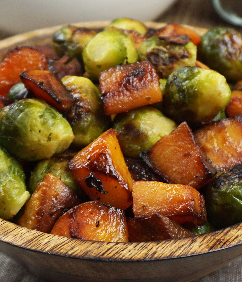 Roasted Brussels sprouts and squash recipe from @bijouxandbits