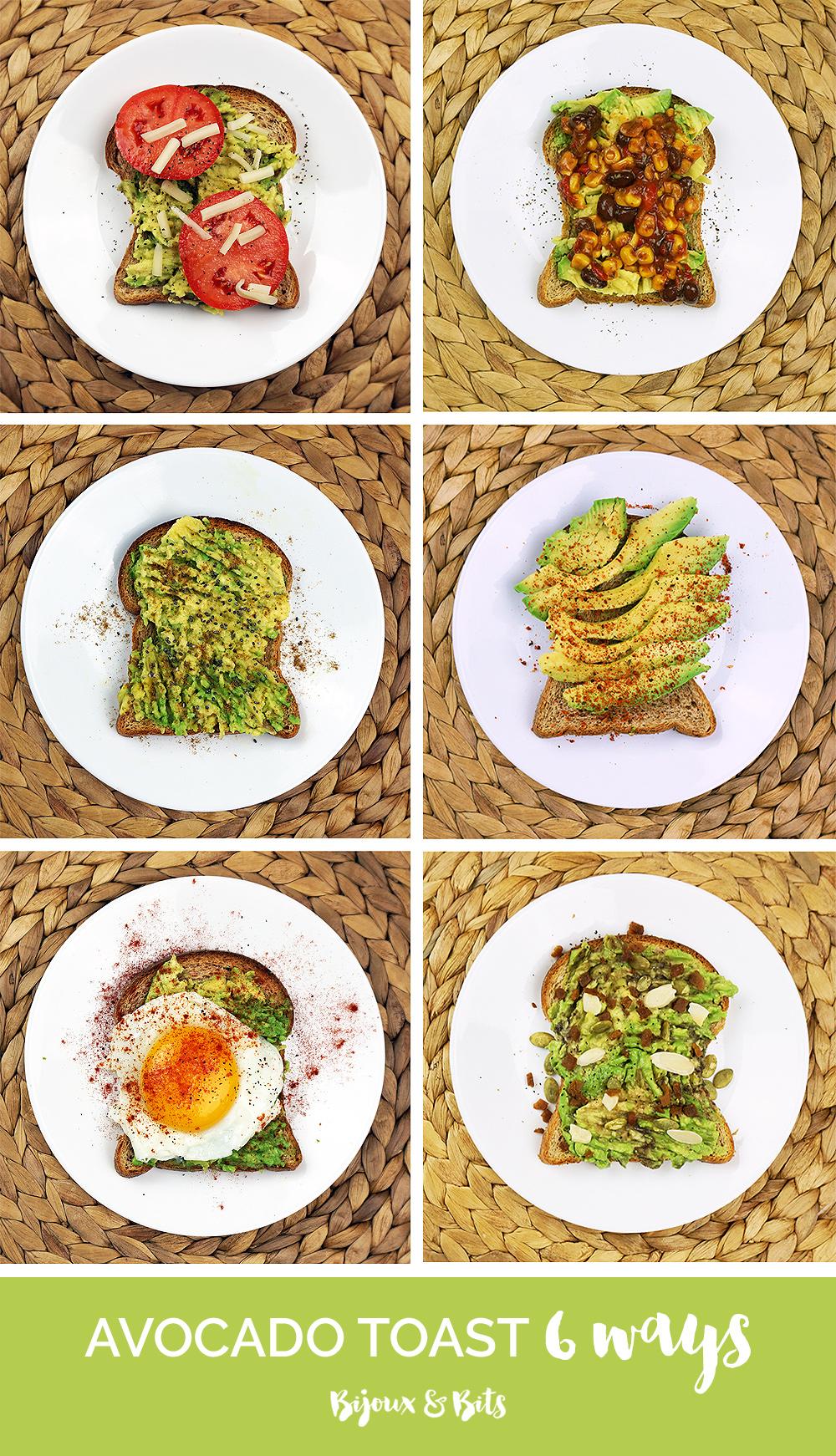 6 avocado toast recipes from @bijouxandbits