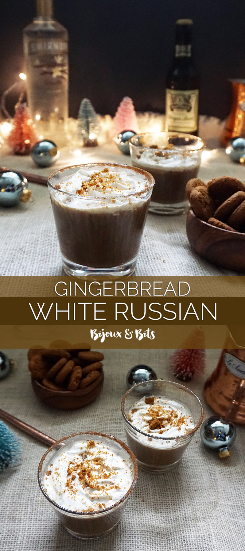 Gingerbread White Russian from @bijouxandbits