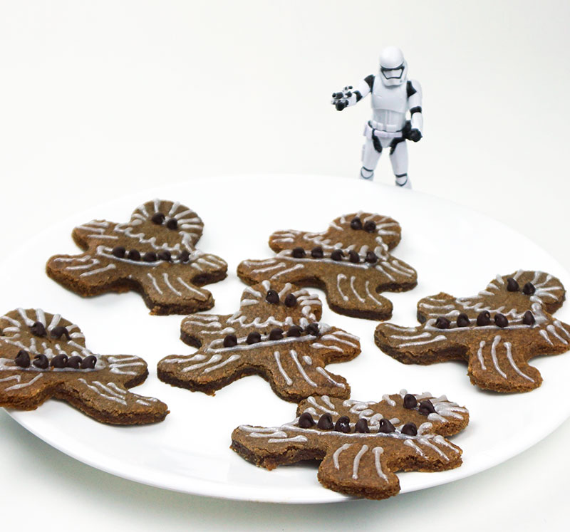 Gingerbread Wookiee cookies (for your Star Wars release party!)