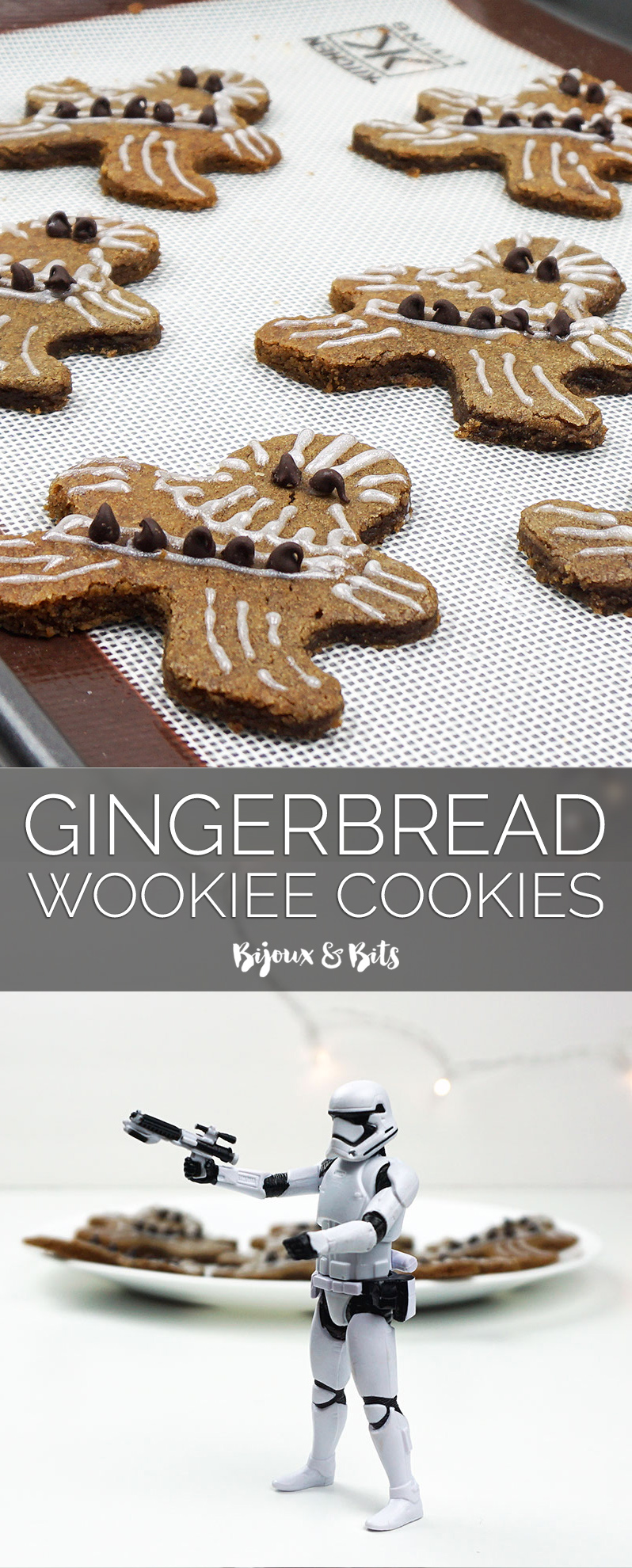 Gingerbread wookiee cookies from @bijouxandbits