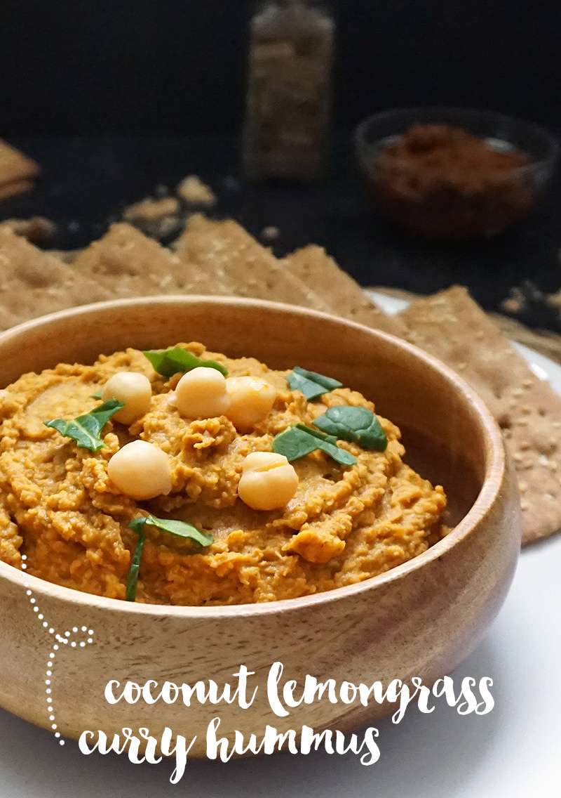 Coconut lemongrass curry hummus from @bijouxandbits
