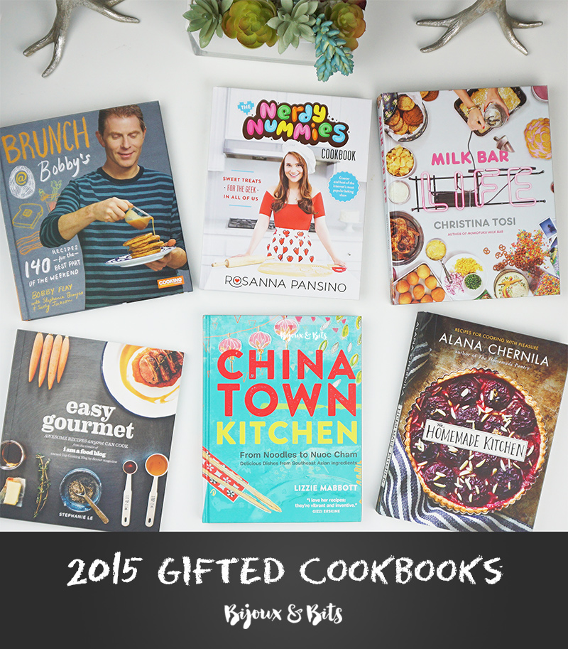 My gifted cookbooks of 2015 as seen on @bijouxandbits