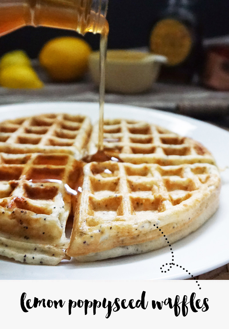 Lemon poppy seed waffles from @bijouxandbits #waffles #recipes