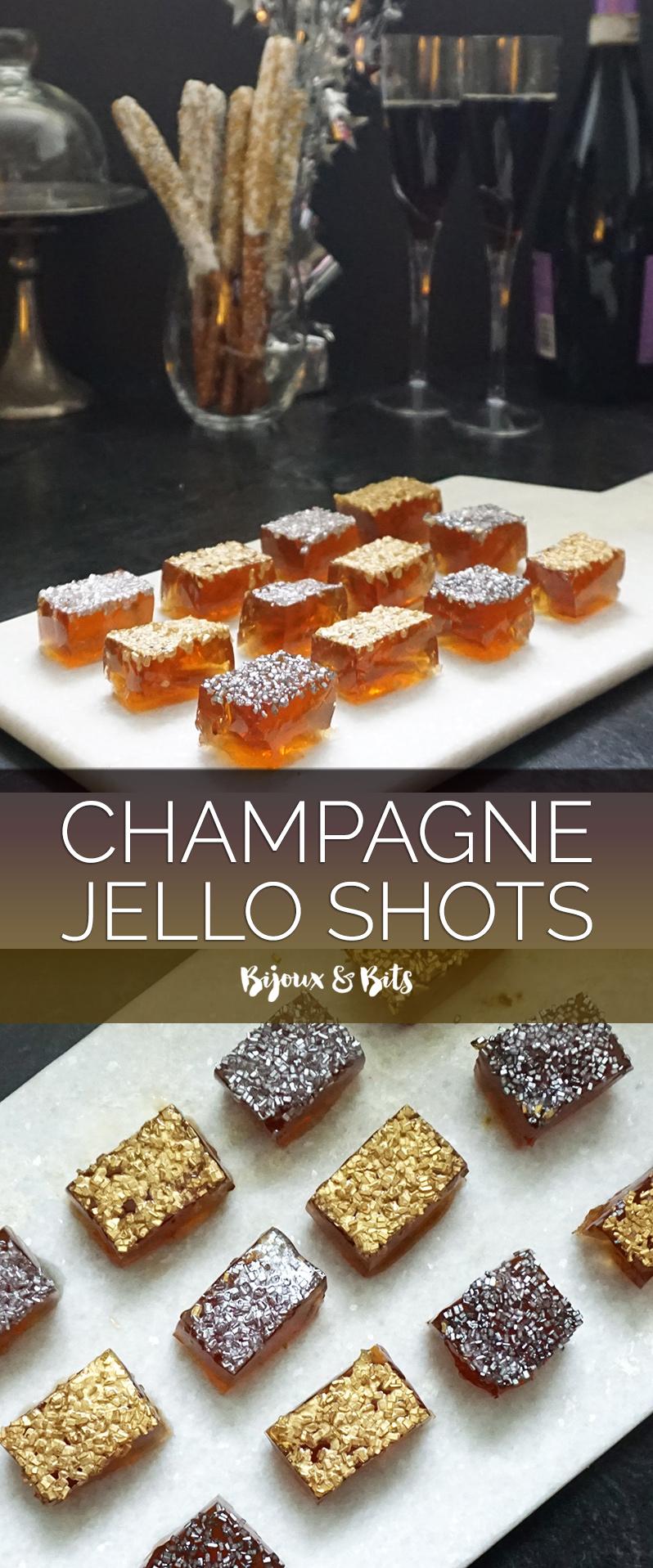 Champagne Jello shots from @bijouxandbits #jelloshots #oscars