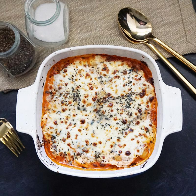Pancetta gnocchi lasagna from @bijouxandbits #gnocchi #lasagna