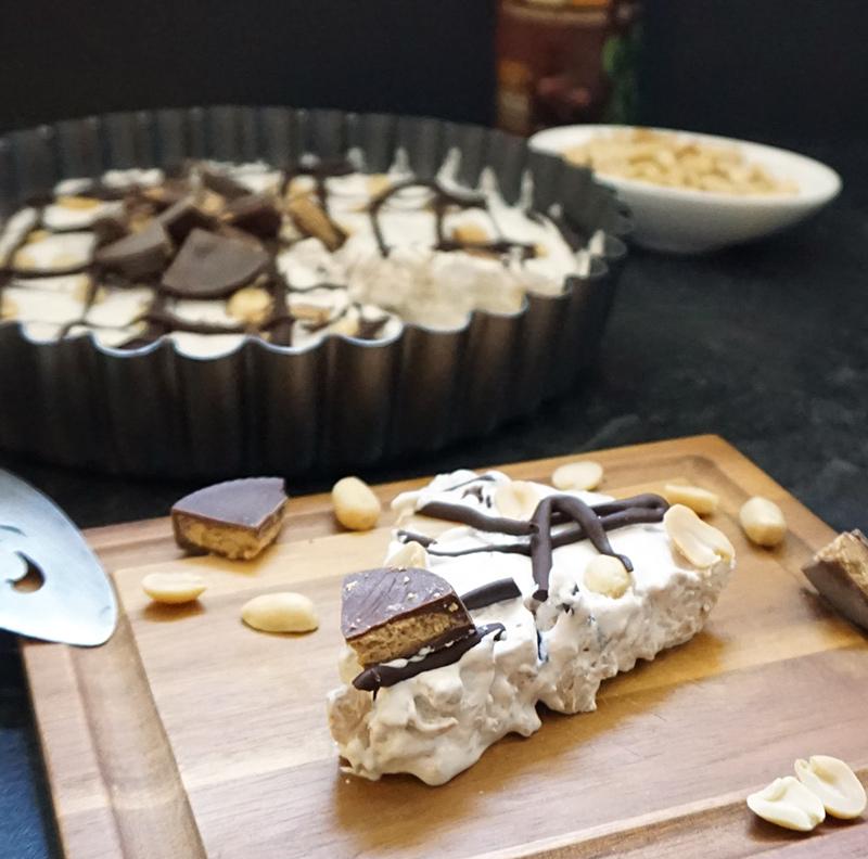 Peanut butter cup pie from @bijouxandbits #pie #nobake