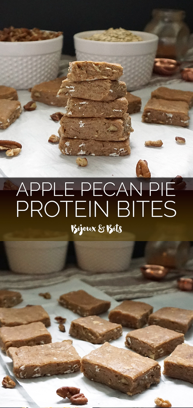 Apple pie pecan protein bites from @bijouxandbits #applepie #protein