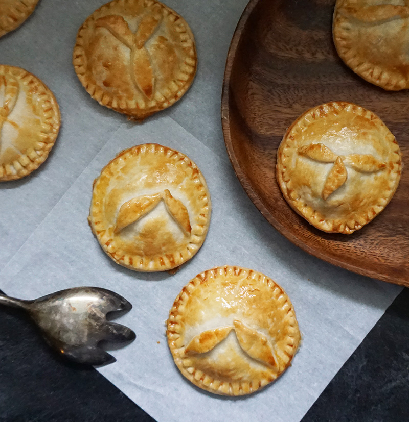 Bacon, date, & cheddar pasties from @bijouxandbits #bacon #cheddar