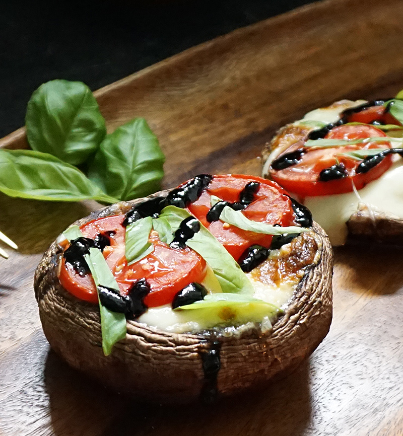 Caprese stuffed portobellos with brown butter